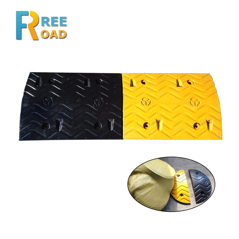 1000*380*50mm cat eye reflective road safety Rubber Speed bumps