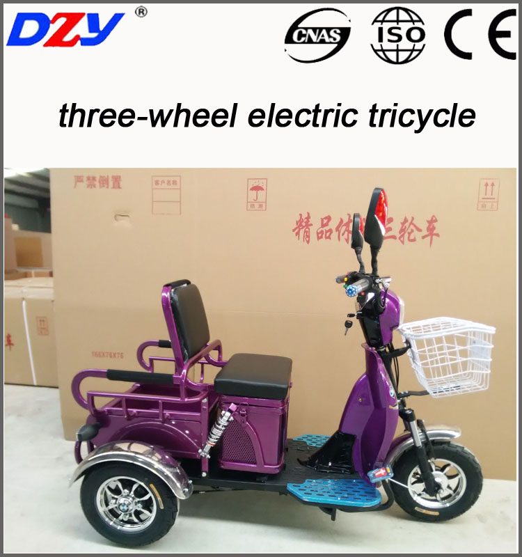 China CE electric cargo passenger tricycle for sale