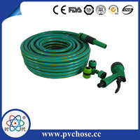High pressure flexible pvc garden hose pipe with fitting and connector