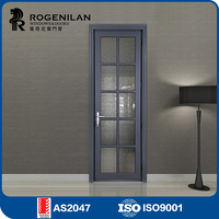 ROGENILAN 45 series interior position double glass readymade doors
