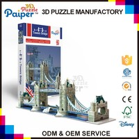 Tower Bridge souvenir toys funny game city world architecture 3d puzzle, bridge 3d models famous buildings paper models for kids