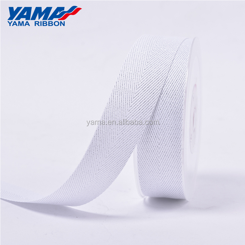 YAMA stocked wholesale new gold silver grosgrain purl Twill ribbon