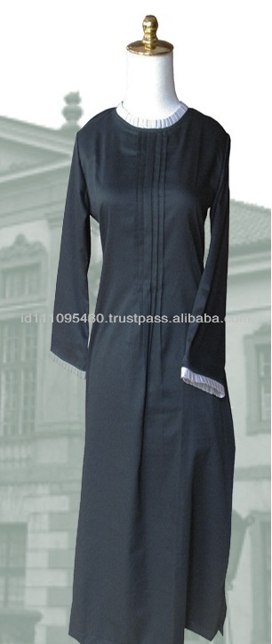 Children modest Cotton Black Dubai Abaya