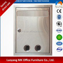 stainless steel mail box square mailbox with lock hot selling letter box