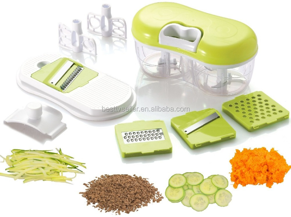 Food Chopper, Blender, Slicer & Grater: Twin Chopper / Blender with Mandoline Slicer & Grater