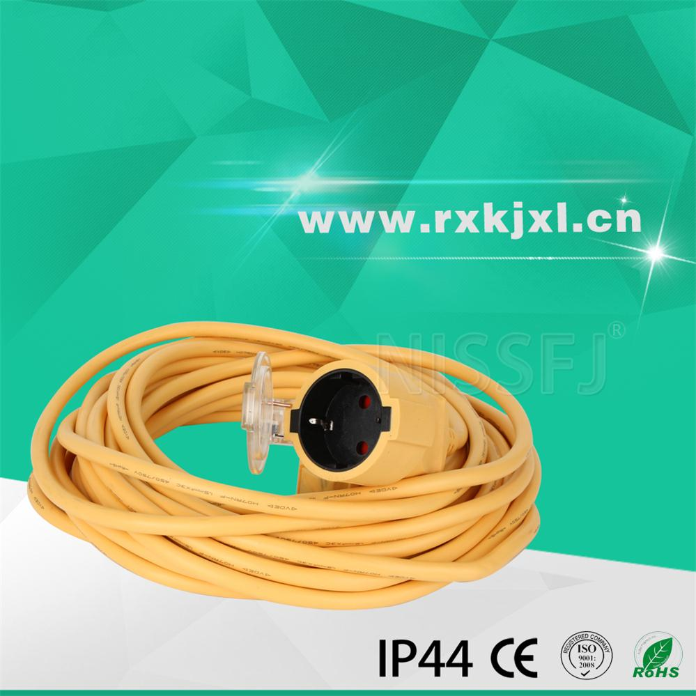 European electrical 2 pin waterproof extension cord