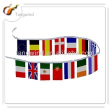 TW3011 Eco-friendly Promotion Printed PE/Paper/Non-woven/Fabric Triangle Flag Bunting