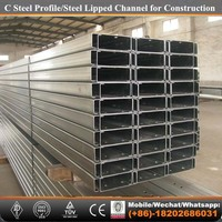 Tianjin factory-009 Steel Structure C Lipped Channel Steel Purlin price
