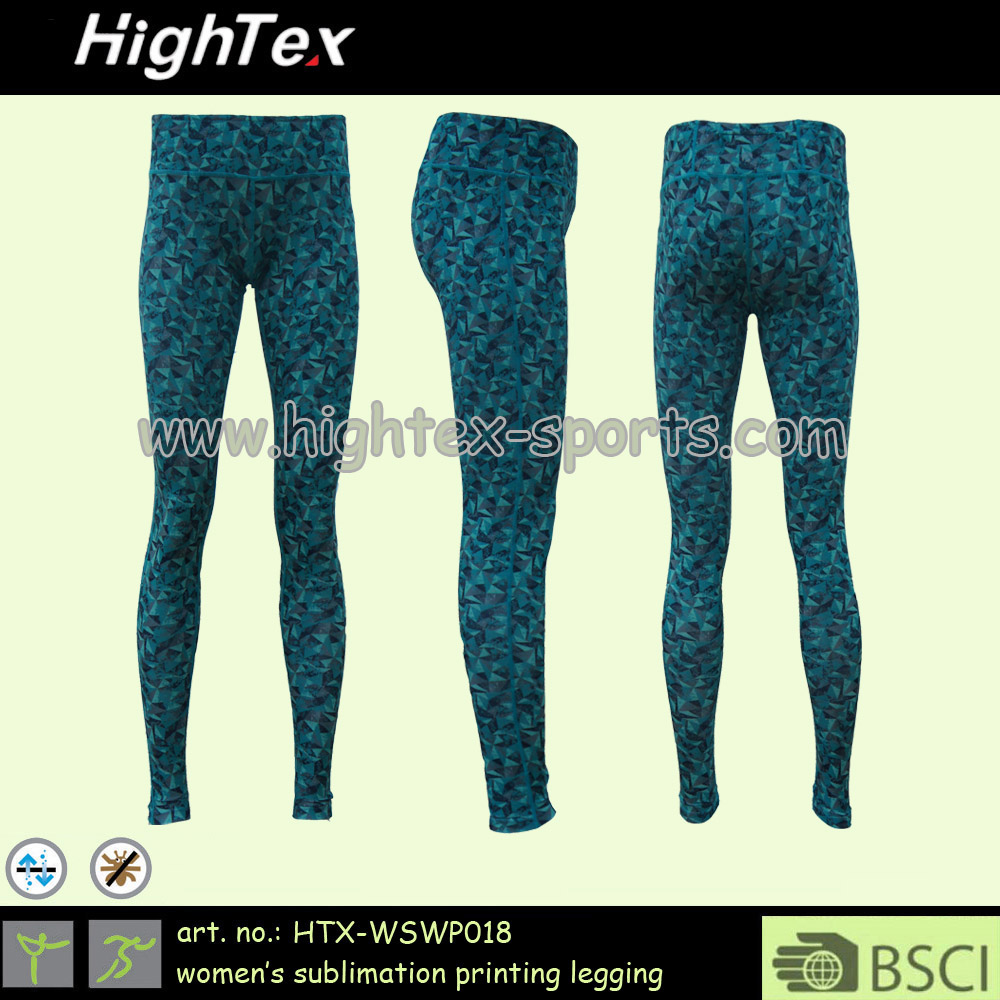 OEM ODM hot sell women's anti-bacterial quickdry fitness sublimation leggings