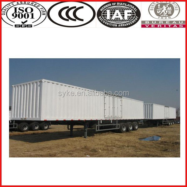 China top brand SINOTRUK 2 axle/3 axle strong box utility trailer