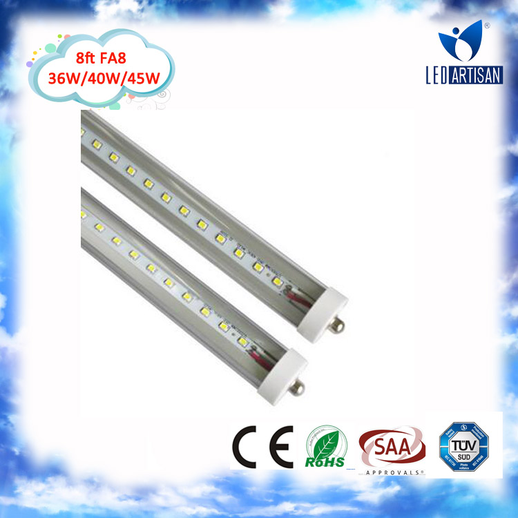 High Lumen 8ft LED tube young tube 16w t8 led red tube CE Rohs UL Approval