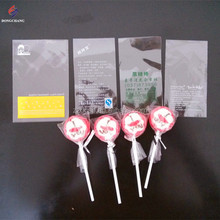 Custom artwork printed plastic flat open bopp candy bag for candy lollipop packaging