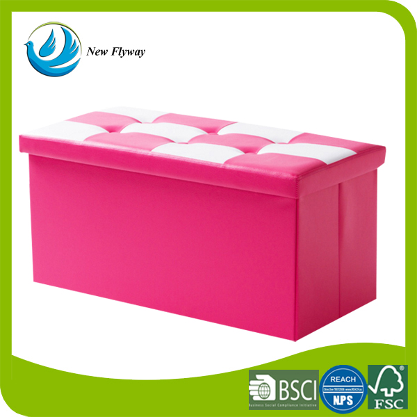 best choice products clothing folding large leather storage stool pink bench rest stool seat