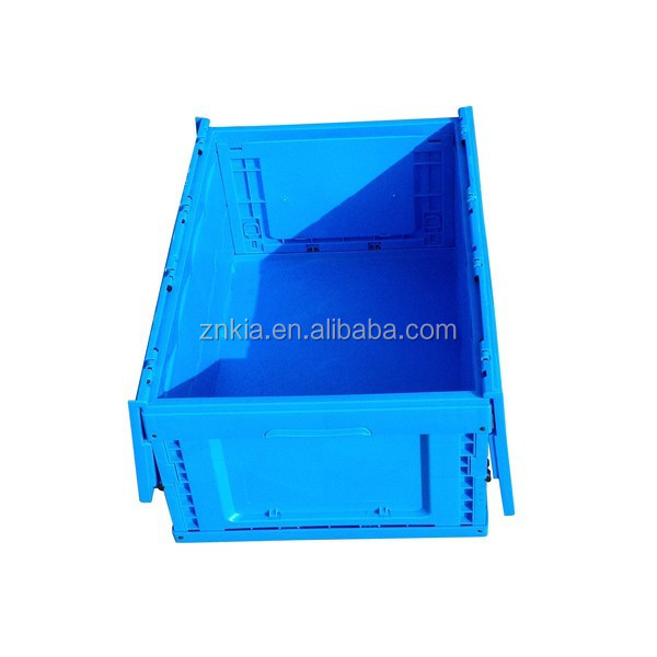 Plastic folding case with cross cover for industry