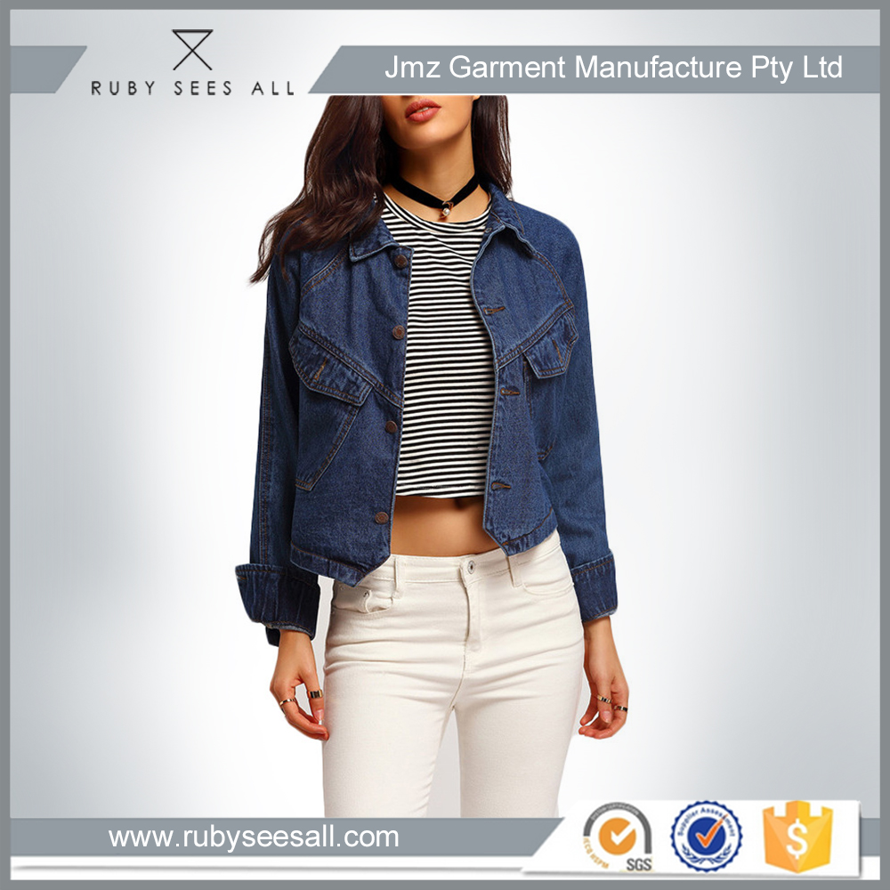 OEM ODM Customized Service Latest Fashion daily Women casual Denim Jacket jean coat for lady