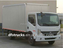 China DONGFENG 4x2 4 Ton Mini Van Cargo Truck box van truck