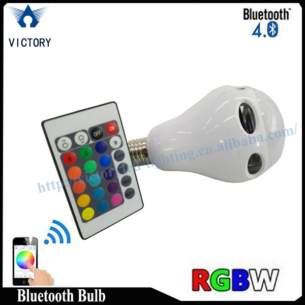 Red Green Blue White color change with remove control led bulb, E27led bulb light ,Bulb music speaker