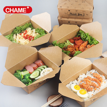 to go bento kraft box / take out kraft container box