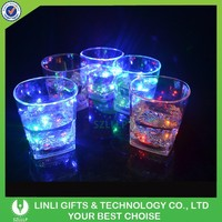 Hot Led Promotional Whisky Glass,Mini Whisky Glass,Liquid Activated Whisky Lighting Glass