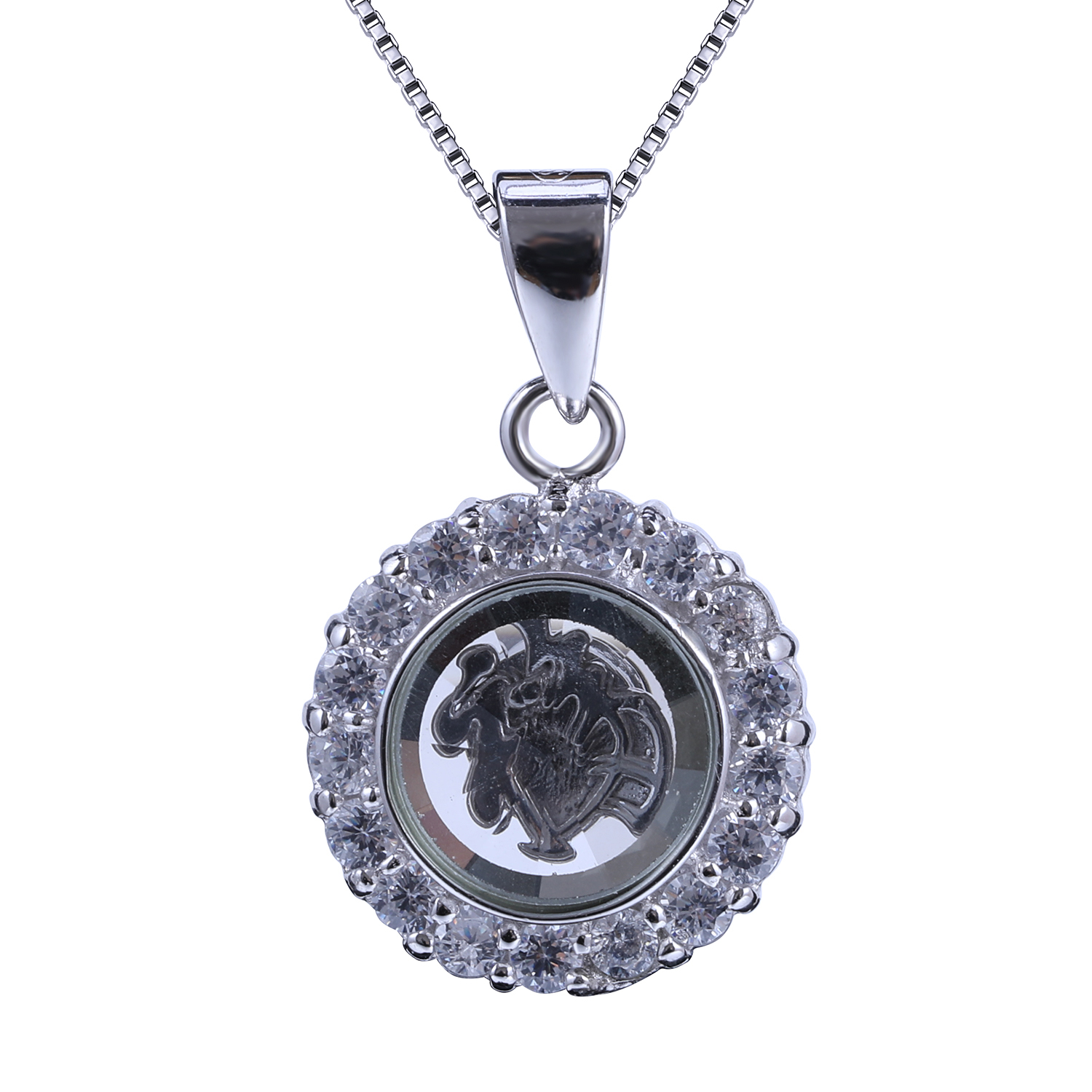 Wholesale necklace charms inside online buy best necklace charms customized wholesales silver round strongnecklacestrong with strong aloadofball Images