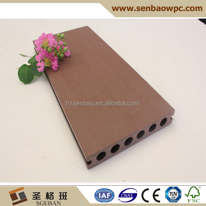 White black antiseptic wood plastic composite decking waterproof laminate flooring outdoor deck floor covering