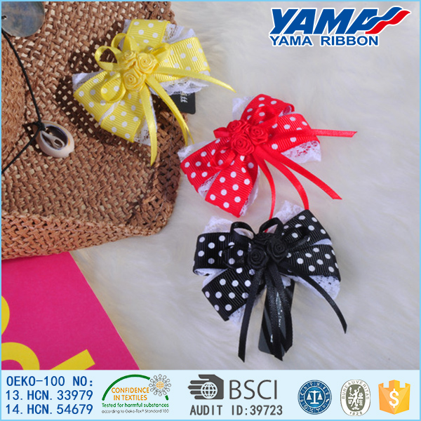 Modern Artificial colorful bow japanese hairpin