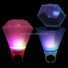 2017 New Design LED Flashing Diamond Shot Glass as a Ring for Party
