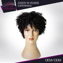 Machine Made Thin Weft Wig Short Human Hair With Big Bang Made In America Wigs