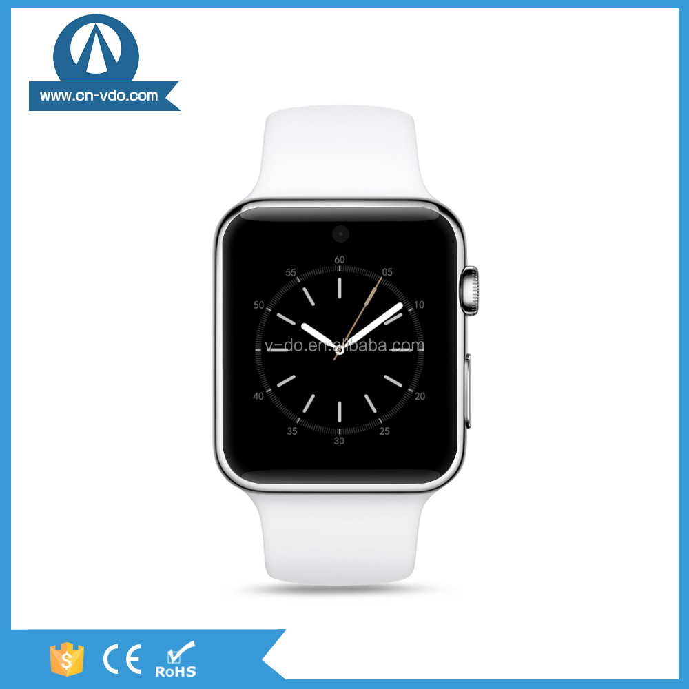 2016 hot selling sim card smart Phone watch with silicon rubber wrist