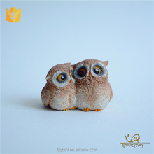 Wholesale High Quality Manufacturer Supplier Garden Bird Ornaments Owl Unpainted Resin Owl Figurines