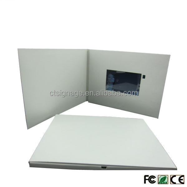 lcd video brochures new marketing tool for promotion memory paper frames businesslcd screen card digital lcd video greeting card