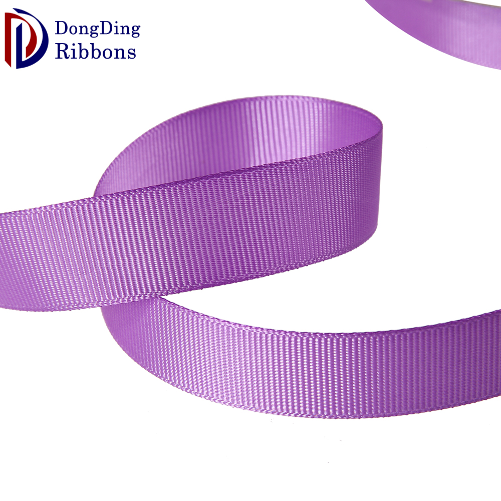 Custom design award ribbons,wholesale 2cm purple plaid grosgrain ribbon