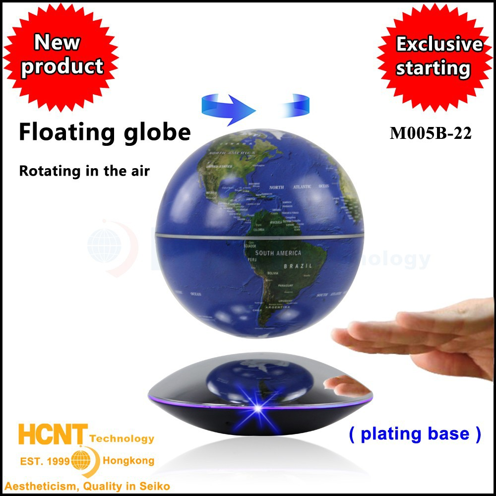 Magnetic rotating globe with light, HCNT levitation globe(M005B-22)