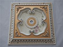 Luxury square ceiling medallion gold and white color hall false ceiling designs