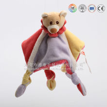 Teddy bear comforter plush toys baby cozy soft toy factory CE,EN71/ ASTM