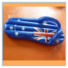 Inflatable thong with drnk holder, OEM pvc inflatable thong water mattress