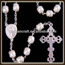 imitation PEARL double cappped rosary
