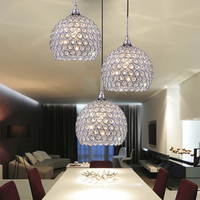 Italian modern style k9 crystal ball LED pendant lighting for home decor