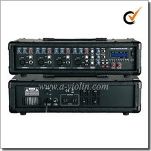 XLR Balanced 4 Channel PA Amplifier Treble Bass EQ Mobile power mixer amplifier(APM-0430BU)