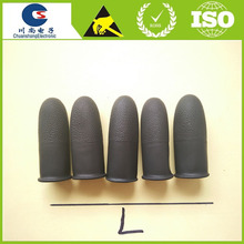 Rubber latex Black Static Dissipative Finger Cots, 14 mil thick finger stall, Large, (Pack of 100)