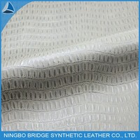 1412006-5382-1Ningbo Bridge Free Sample Availablesoft pu leather of crocodile pattern for shoes