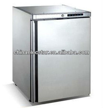 Half Height Professional refrigerator/freezer for under counter use with White or S/S Finish,temperature display