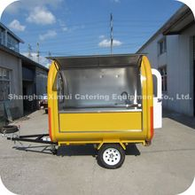 2014 Firm Structure Outdoor Mobile Twinkies Lindt Chocolate Gyoza Food Trailer Cart with Wheels XR-FC220 B