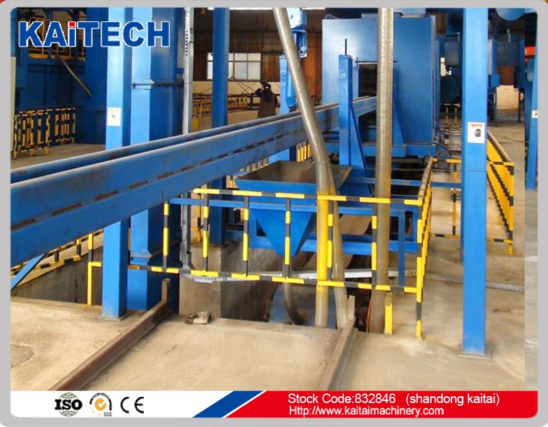 steel tube special internal pipe sand blasting machinery for heat or water supply industry etc.