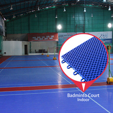 Good price 100% new polypropylene material construction flooring badminton court mat