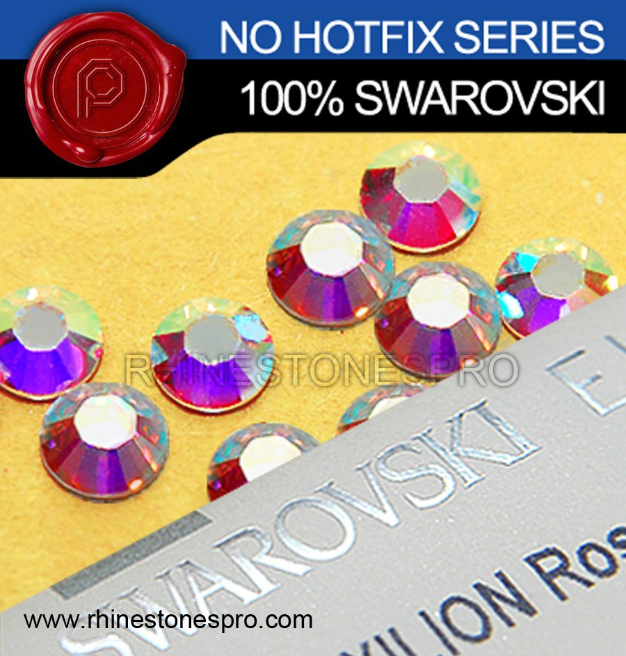 Genuine Swarovski Elements AB Clear (001AB) 9ss Flat Back Crystal Non HotFix