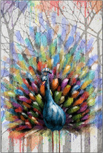 Free Shipping peacock canvas painting modern art Wall Art