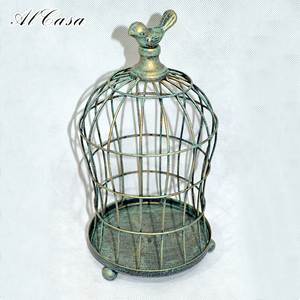 Home decor vintage iron lantern candle holder bird cage candlestick