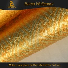 Fashionable gold glitter design 3D waterproof wall paper
