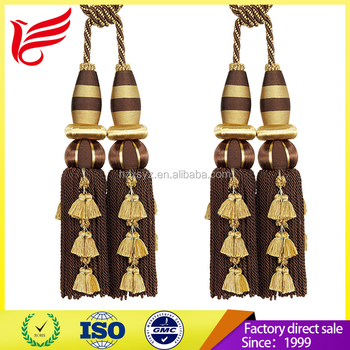 China Product Hot Sales Elegant Polyester Curtain Tassel